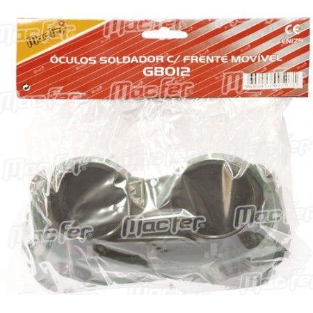Óculos prot. p/ soldador frt. movível MacFer SE1150 escuros ref. 005.0007 MACFER