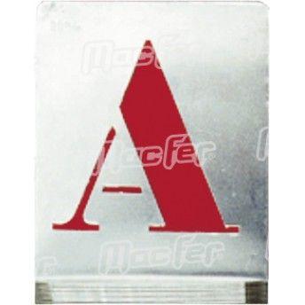 Jg. abecedário pintar alumínio MacFer APA-01 100mm ref. 007.0040 MACFER