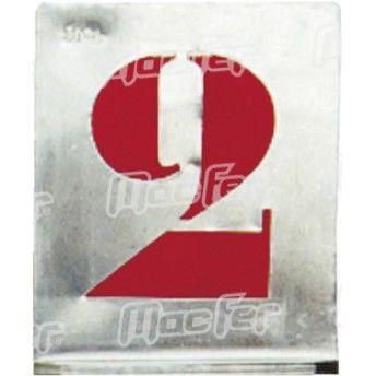Jg. numerário pintar alumínio MacFer NPA-01   80mm ref. 007.0031 MACFER