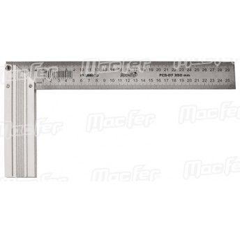Esquadro alumínio MacFer FCS-07 300mm ref. 010.0077 MACFER