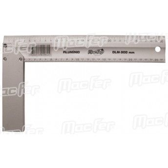 Esquadro alumínio MacFer DLM 300mm ref. 010.0081 MACFER