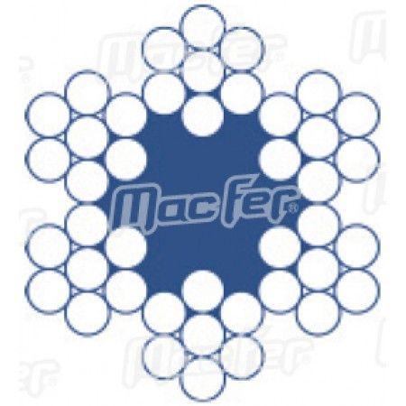 Cabo aço galv. revestido MacFer  WRG-REV 6x7+FC 2/3mm 250m ref. 018.0001 MACFER