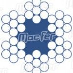 Cabo aço galv. revestido MacFer  WRG-REV 6x7+FC 4/5mm 100m ref. 018.0005 MACFER