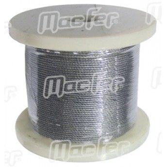 Cabo aço galv. MacFer  WRG   1x19 1,0mm 100m ref. 018.0017 MACFER