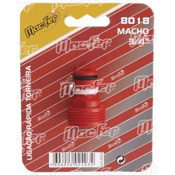 "Lig. rápida p/ torneira macho MacFer 8018 3/4"" ref. 024.0003 MACFER"