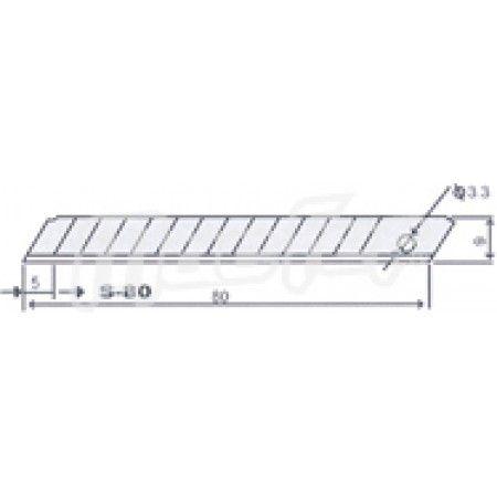 Lâmina p/ x-acto SK4 MacFer S-80 9mm  ref. 027.0072 MACFER