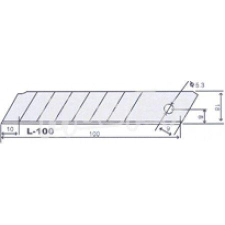 Lâmina p/ x-acto SK4 MacFer L-100 18mm  ref. 027.0071 MACFER