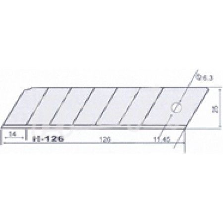 Lâmina p/ x-acto SK4 MacFer H-126 25mm  ref. 027.0070 MACFER