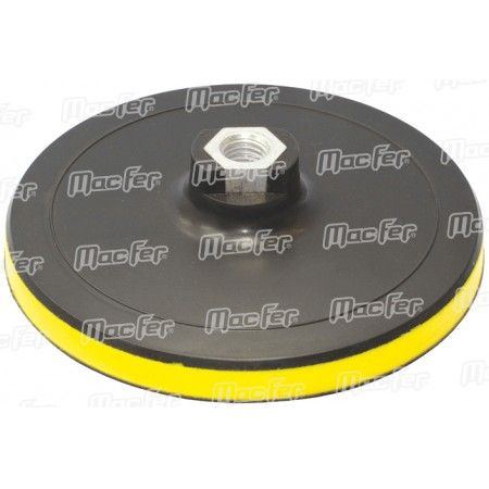 Prato vinil c/ velcro MacFer PLY-35 M14 125mm ref. 033.0045 MACFER