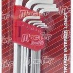 """Jg. ch. """"L"""" sext. int. longa  MacFer WLHR-146L 1,5~10mm 9pçs ref. 037.0076 MACFER"""