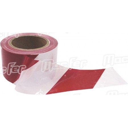 Fita sinalização MacFer SWT-RWH 70mm 200m vermelha/ branca ref. 040.0052 MACFER