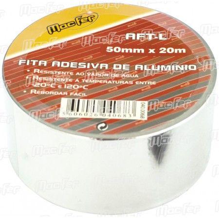 Fita alumínio MacFer AFT-L 50mm 20m ref. 040.0068 MACFER