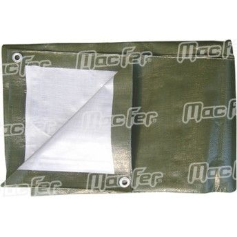 Resguardo imp. MacFer TP091190g/m2 3x 4m verde/ cinza ref. 080.0041 MACFER