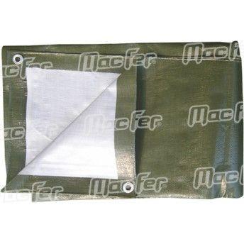 Resguardo imp. MacFer TP091190g/m2 4x 6m verde/ cinza ref. 080.0044 MACFER