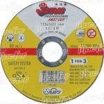 Disco abrasivo corte inox Swaty 3Stars 115x1,0x22,2mm ref. 089.0013 MACFER