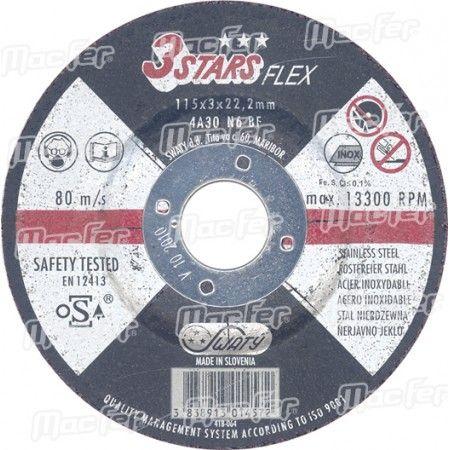 Disco abrasivo corte inox Swaty 3Stars 125x1,0x22,2mm ref. 089.0014 MACFER