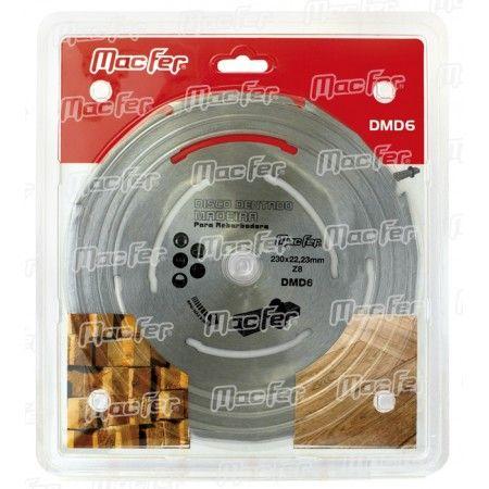 Disco dentado p/ madeira MacFer DMD6 230mm ref. 090.0073 MACFER