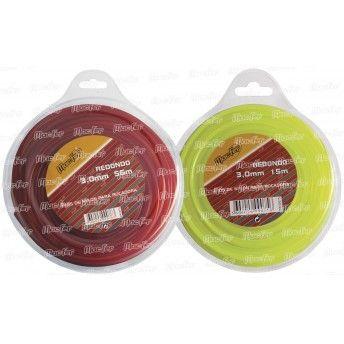 Fio nylon p/ roç. redondo MacFer FNRR-1 3,0mm 15m ref. 090.0075 MACFER