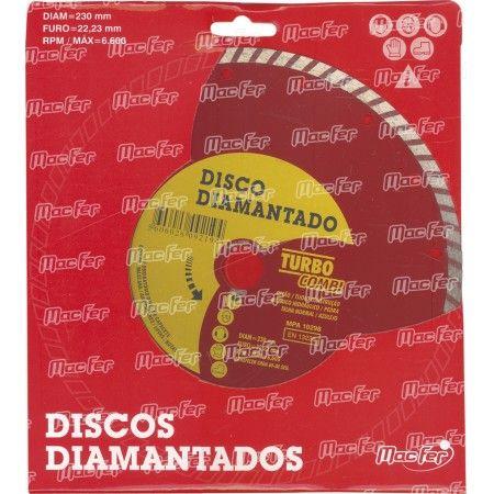 Disco diam. MacFer Turbo Combi 230mm ref. 092.0019 MACFER
