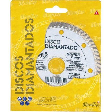 Disco diam. MacFer Super Turbo 125mm ref. 092.0032 MACFER