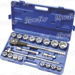 """Jg. ch. cx. Cr-Mo MacFer SS-6021-06 3/4"""" 21pçs ref. 105.0008 MACFER"""