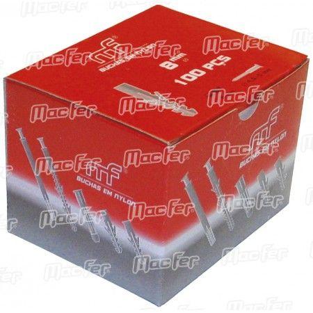 Bucha nylon TP emb. mf TP-1   6x  80mm  ref. 121.0029 MACFER
