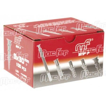 Bucha nylon p/ pladur mf BNP 13x38mm  ref. 121.0053 MACFER