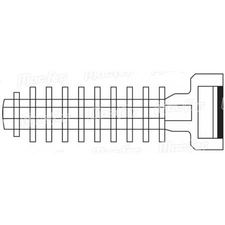 Bucha nylon borboleta mf BNA19 19mm  ref. 121.0056 MACFER