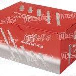 Bucha nylon uni. c/ argola mf 85A-A 8x50mm branca  ref. 121.0081 MACFER