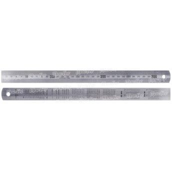 Escala c/ conversão inox MacFer EMC-I   150x25x1,2mm ref. 139.0010 MACFER