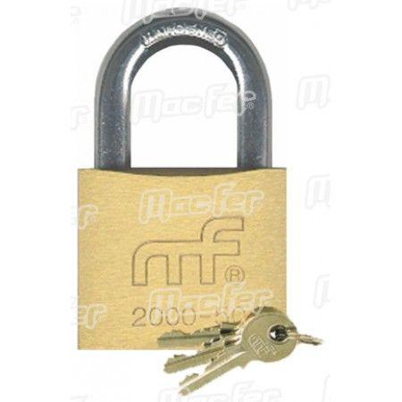 Cadeado argola normal latão mf 2000-25 25mm ref. 150.0002 MACFER