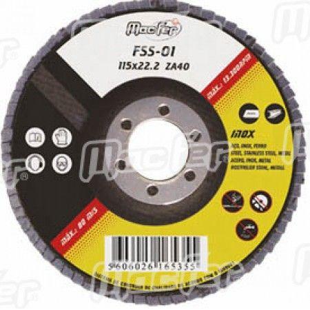 Disco lam. p/ inox MacFer FSS 115x22,2mm   ZA40 ref. 165.0035 MACFER
