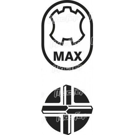 Broca ponta diamante MAX 4 cortes MacFer 4200 25x540mm ref. 172.0066 MACFER